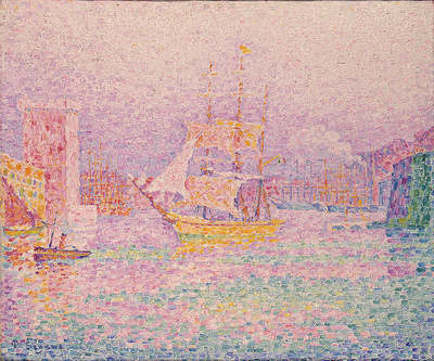Signac The Harbour at Marseilles, 1907, Eremitaget