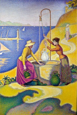 Signac Women at the Well, 1892, 195x131 cm, Musee dOrsay