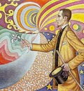 Signac Against the Enamel of a Background Rhythmic with Beat
