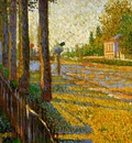 Signac Paul The railroad at Bois Colombes Sun