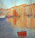 Signac Red Buoy, 1895, Musee dOrsay at Paris