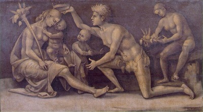 Signorelli Allegory of Fecundity and Abundance, ca 1500, 58x