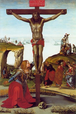 Signorelli The Crucifixion with St  Mary Magdalen, ca 1500,