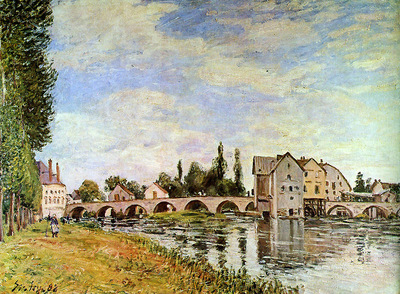 Sisley Alfred Bridge of Moret Sun
