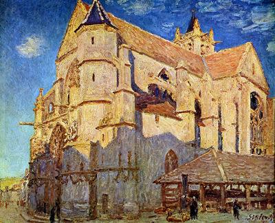 Sisley Alfred Church of Moret Sun
