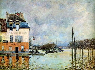 Sisley Alfred Flooding at Port Marly Sun