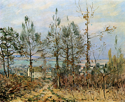 Sisley Alfred Houses in Louveciennes Sun