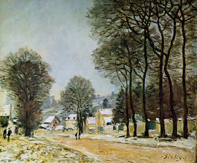 Sisley Alfred Louveciennes in the snow Sun