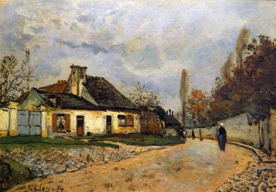 Sisley Alfred Rue des voisins a Louveciennes Sun