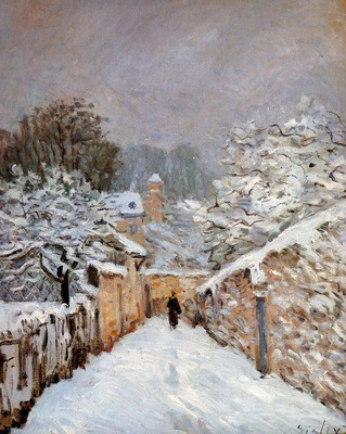 Sisley Alfred Snow in Louveciennes Sun