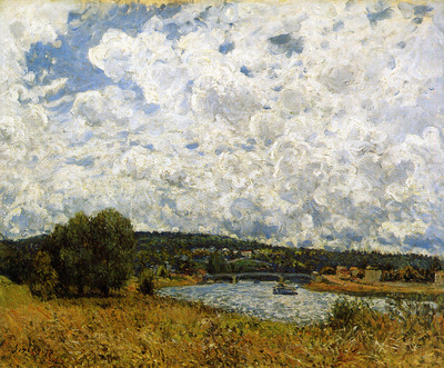 Sisley Alfred The Seine at Suresnes Sun