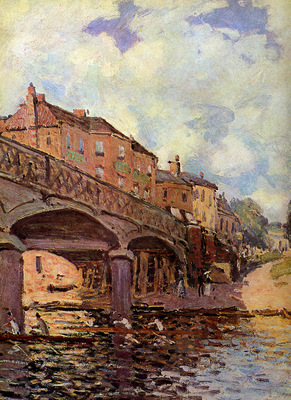 Sisley Alfred The bridge at Hampton Sun