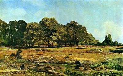 Sisley Alfred Trees at La Celle Saint Cloud Sun