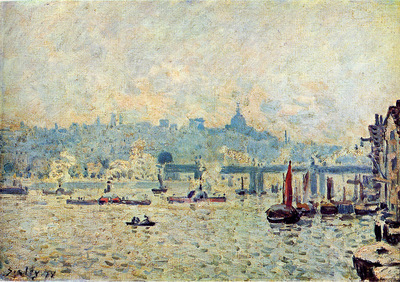 Sisley Alfred View on the Thempse Sun
