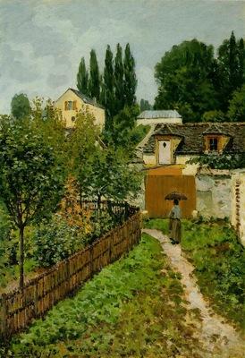 sisley garden path in louveciennes chemin de letarche ,