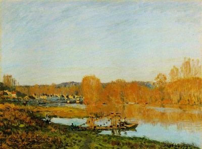 Sisley Lautomne  Bords de la Seine pres Bougival, 1873, 46x