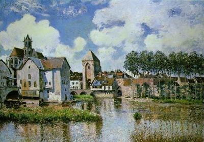 Sisley Moret sur Loing, 1891, 65x92 cm, Galerie H  Odermatt