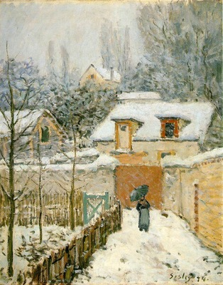 Sisley Snow at Louveciennes, 1874, 55 9x45 7 cm, Phillips Co