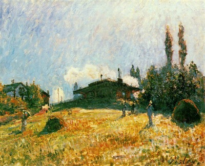 Sisley Station at Sevres, ca 1879, 15x22 cm, Private