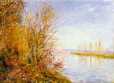 Sisley The Chemin de By through Woods at Roches Courtaut, St