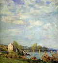Sisley Alfred Brink of the Seine at Bougival Sun