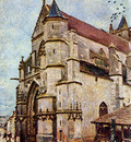 Sisley Alfred Church of Moret in the afternoon Sun