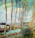 Sisley Alfred Loing canal Sun