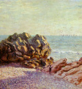 Sisley Alfred Stor Rock Ladys cove in the evening Sun