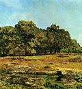 Sisley Alfred Trees at La Celle Saint Cloud Sun