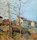 Sisley Alfred Village at the edge of the forest Sun
