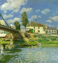 Sisley Bridge at Villeneuve la Garenne, 1872, 49 5x65 4 cm,