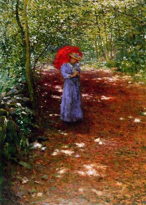 Slavicek Antonin Walking through the park Sun