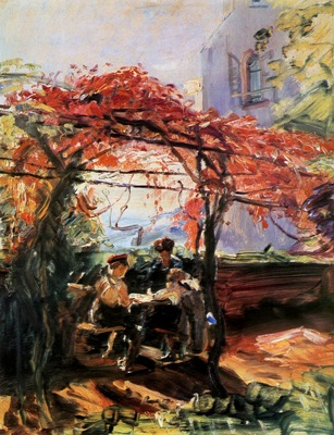 Slevogt Max Artists children in garden Sun