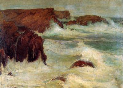 Slewinski Wladyslaw The sea at Belle LLe Sun