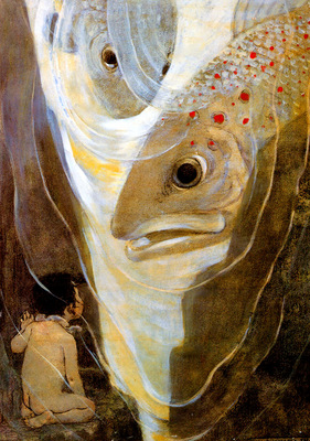 Jessie Wilcox Smith The Salmon and His Wife, 1916 sqs