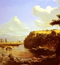 Somerscales Thomas Jacques Cattle Watering In A River Landscape