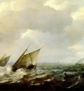 sorgh ships in a strong wind