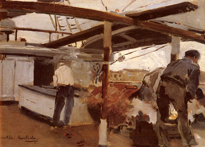 Bastida Joaquin Sorolla y Two Men On A Deck