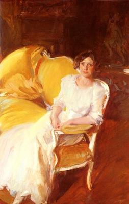 Sorolla Joaquin Clotilde Sentada En El Sofa