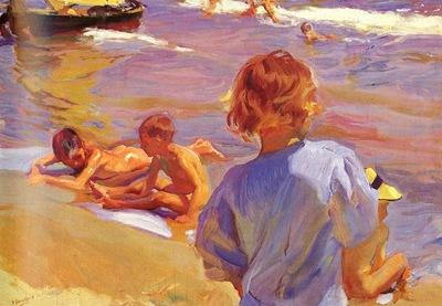Sorolla Joaquin Ninos En La Playa Valencia