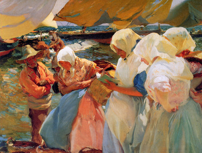 Sorolla y Bastida Joaquuin Fisher women at the beach Sun