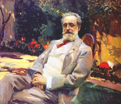 sorolla raimundo de madrazo in his paris garden