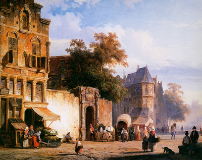 Springer Cornelis Cityview wiith marketstall Sun