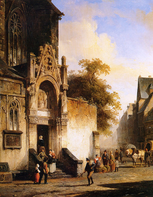 Springer Cornelis Coming out of church Sun