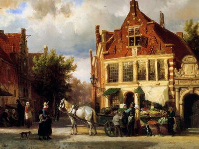 Springer Cornelis Street scene Sun