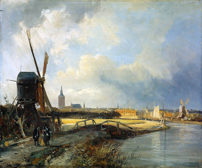 Springer Cornelis Study for View on Den Haag Sun