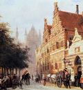 Springer Cornelis Kerkegracht en Weeshuis in Leiden Sun