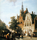 Springer Cornelis Marketview with cityhall Woerden Sun