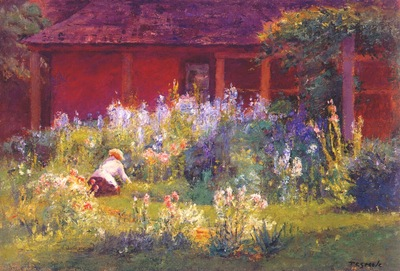 steele selma in the garden c1921