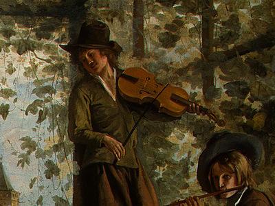 STEEN,J  THE DANCING COUPLE, DETALJ 13, 1663, NGW